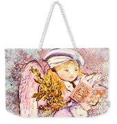 Caroling Angel Weekender Tote Bag