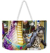 Carousal Dragon And Seal On A Merry-go-round Weekender Tote Bag