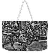 Carousel  Black And White Weekender Tote Bag