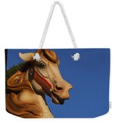 Carousel Horse Against Blue Sky Weekender Tote Bag