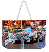 Carousel Horse With Flags Weekender Tote Bag