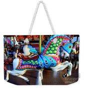 Carousel Horse With Sea Motif Weekender Tote Bag
