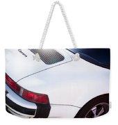 Carrera Porsche White Backend  Weekender Tote Bag