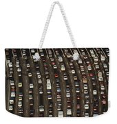 Cars Queue Up At A Tollbooth On The Bay Weekender Tote Bag