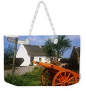 Cart On The Roadside Of A Village, The Weekender Tote Bag