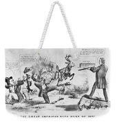 Cartoon: Election Of 1856 Weekender Tote Bag