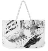 Cartoon: New Deal, 1936 Weekender Tote Bag