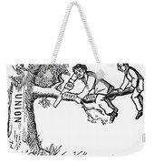 Cartoon: Secession, 1861 Weekender Tote Bag