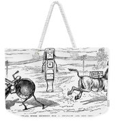 Cartoon: Telephone, 1886 Weekender Tote Bag