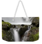 Cascading Creek In Temperate Rainforest Weekender Tote Bag