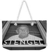 Casey Stengel In Black And White Weekender Tote Bag by Rob Hans