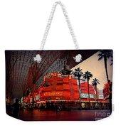 Casino Fremont Street Las Vegas Weekender Tote Bag by Susanne Van Hulst
