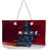 Cast Iron Stove With Teapots Weekender Tote Bag