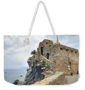 Castello Della Dragonara In Camogli Weekender Tote Bag by Joana Kruse