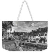 Castle Combe England Monochrome Weekender Tote Bag