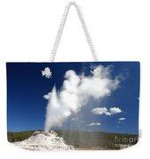 Castle Geyser Erupting Weekender Tote Bag
