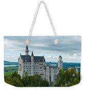 Castle Neuschwanstein With Surrounding Landscape Weekender Tote Bag