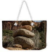 Castle Rock Cairn Weekender Tote Bag by Darcy Michaelchuk