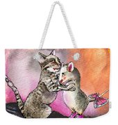 Cat And Mouse Reunited Weekender Tote Bag