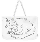 Cat-drawings-black-white-1 Weekender Tote Bag
