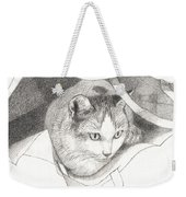 Cat In A Bag Weekender Tote Bag