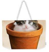 Cat In A Pot Weekender Tote Bag