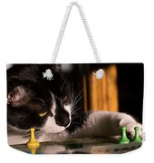 Cat Playing A Game Weekender Tote Bag