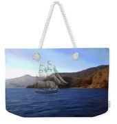 Catalina Shoreline Ghost Ship Weekender Tote Bag