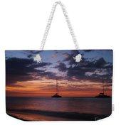 Catamarans  At Sunset Weekender Tote Bag
