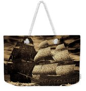Catastrophic Collision-sepia Weekender Tote Bag by Lourry Legarde
