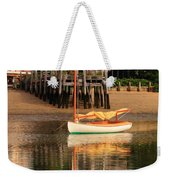 Catboat And Rippled Water Reflections Weekender Tote Bag