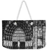 Cathedral In The Snow Panorama Weekender Tote Bag