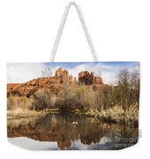 Cathedral Rock Reflections Landscape Weekender Tote Bag by Darcy Michaelchuk