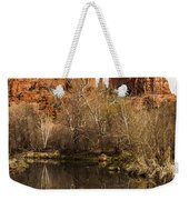 Cathedral Rock Reflections Portrait 1 Weekender Tote Bag by Darcy Michaelchuk