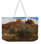Cathedral Rock Reflections Portrait 2 Weekender Tote Bag by Darcy Michaelchuk