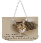 Cats Protecting You From Gnomes - Lily The Cat Weekender Tote Bag