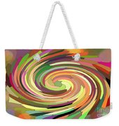 Cat's Tail In Motion. Stained Glass Effect. Weekender Tote Bag