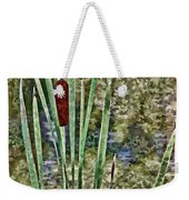 Cattails Along The Pond Weekender Tote Bag