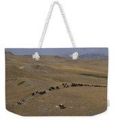 Cattle Drive In Montana Weekender Tote Bag