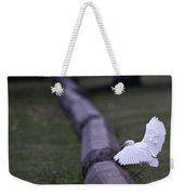 Cattle Egret Landing Weekender Tote Bag