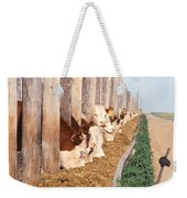 Cattle Feeding Weekender Tote Bag