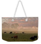 Cattle In The Fog Weekender Tote Bag