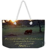 Cattle On A Thousand Hills Weekender Tote Bag