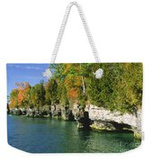 Cave Point Cove Weekender Tote Bag