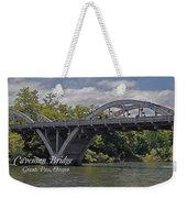 Caveman Bridge With Text Weekender Tote Bag