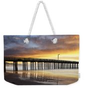 Cayucos Pier Reflected Weekender Tote Bag