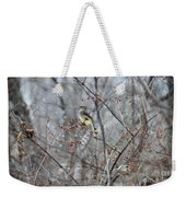 Cedar Wax Wing 3 Weekender Tote Bag