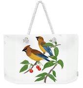 Cedar Waxwing Weekender Tote Bag
