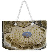 Ceiling With Foot Hanging Out Weekender Tote Bag