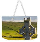 Celtic Cross In A Cemetery Weekender Tote Bag